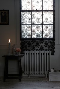 Dramatic black Lace Panel from James Hare