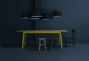 Mathias Hahn neon-legged table