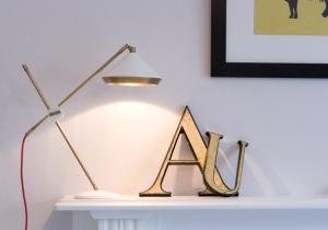 Shear Brass Lamp from
