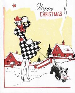 Cat Preston Vintage Christmas Card