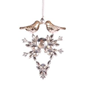 Joanna Wood Diamante Decoration with Silver Birds - £11.99
