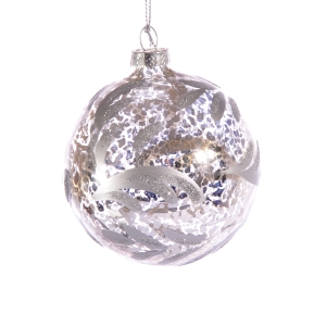 Joanna Wood Silver Leaf Trellis Bauble - £3.30