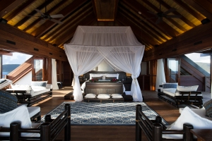 Master bedroom at The Great House, Necker