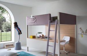 Wide Loft Bed from Nubie