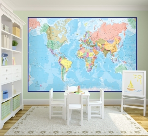 Giant World Map by Maps International
