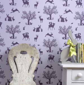Enchanted Wood wallpaper by Hibou Home at Nubie.