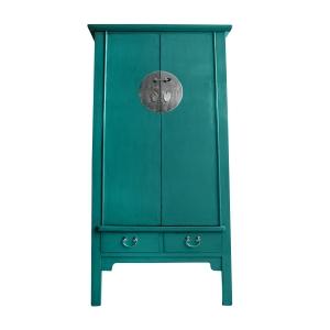 Teal Slim Cabinet 4