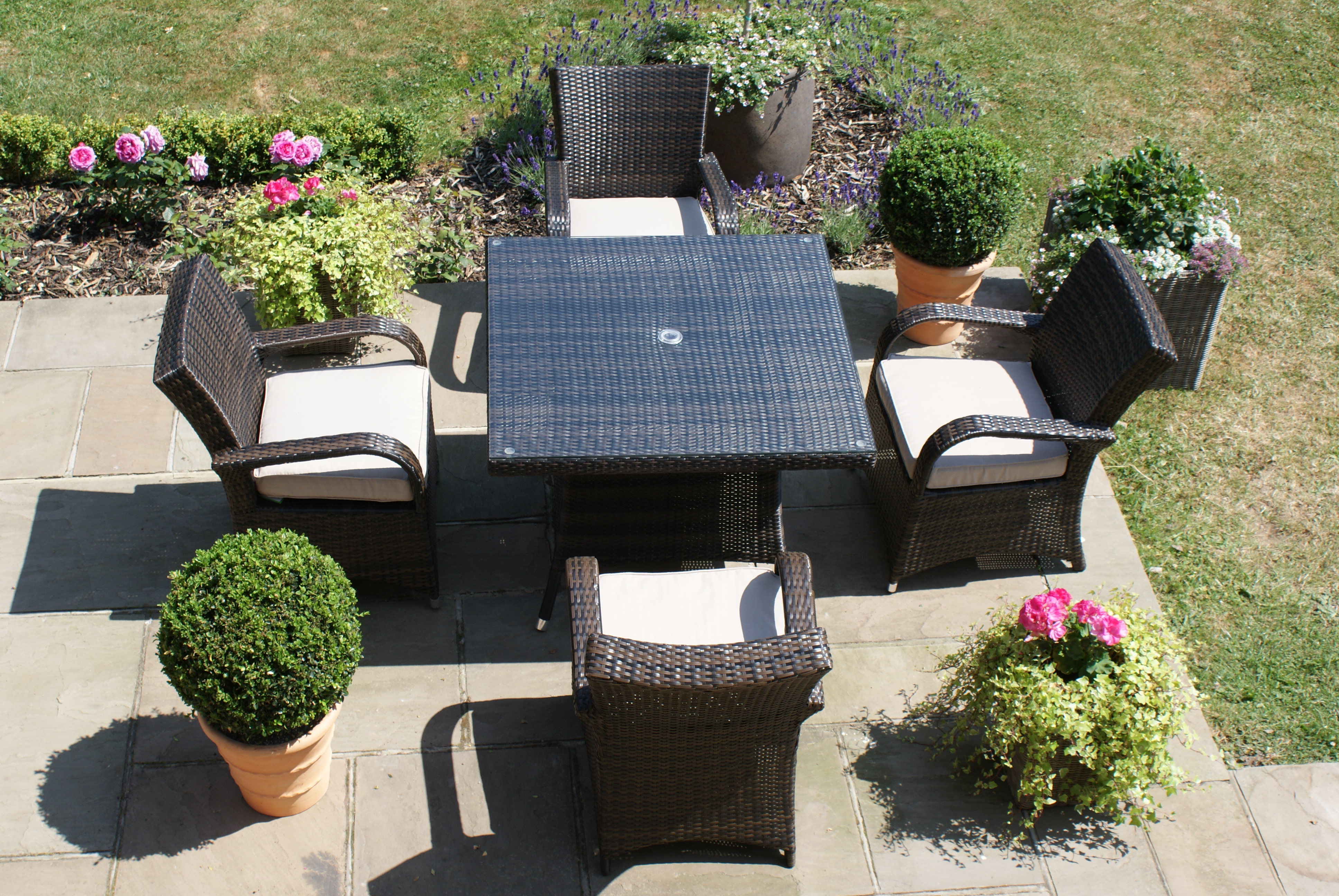 Muebles De Teca Para Jardin Perfect Juego De Mesas Banca Con  # Muebles Teka Jardin