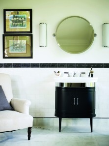 Art Deco inspired bathrooms at Fired Earth