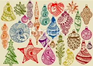stock-illustration-14974778-collection-of-vintage-christmas-decorations