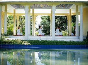 Ananda Yoga class music pavillion