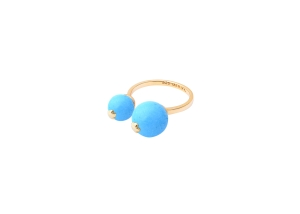 2 stone ring turquoise