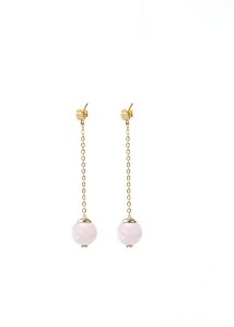Earrings rose quartz
