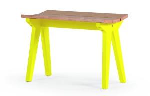 Mini Stroller Bench Oak Yellow