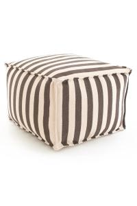 Trimaran Stripe Charcoal Indoor Outdoor Pouffe_£250
