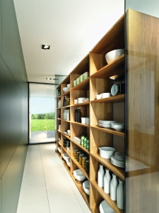 Line Kitchen storage wall by Team 7 at Wharfside