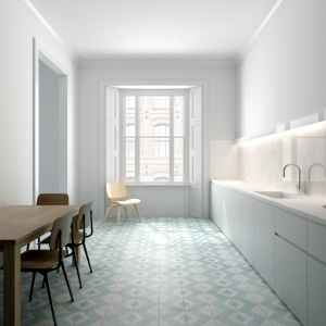 Sage Tiles from The Flecha Collection  £9 per tile www.BertandMay.com - lifestyle