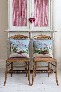 Christmas Collection - Alpine Chalet and Church Cushions