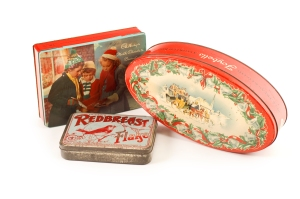 Vintage Christmas Tins at Homestuff with History