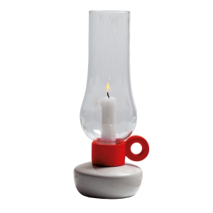Out There Interiors - Candle lanterns in red, £70