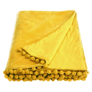 Belinda Gold Velvet Throw