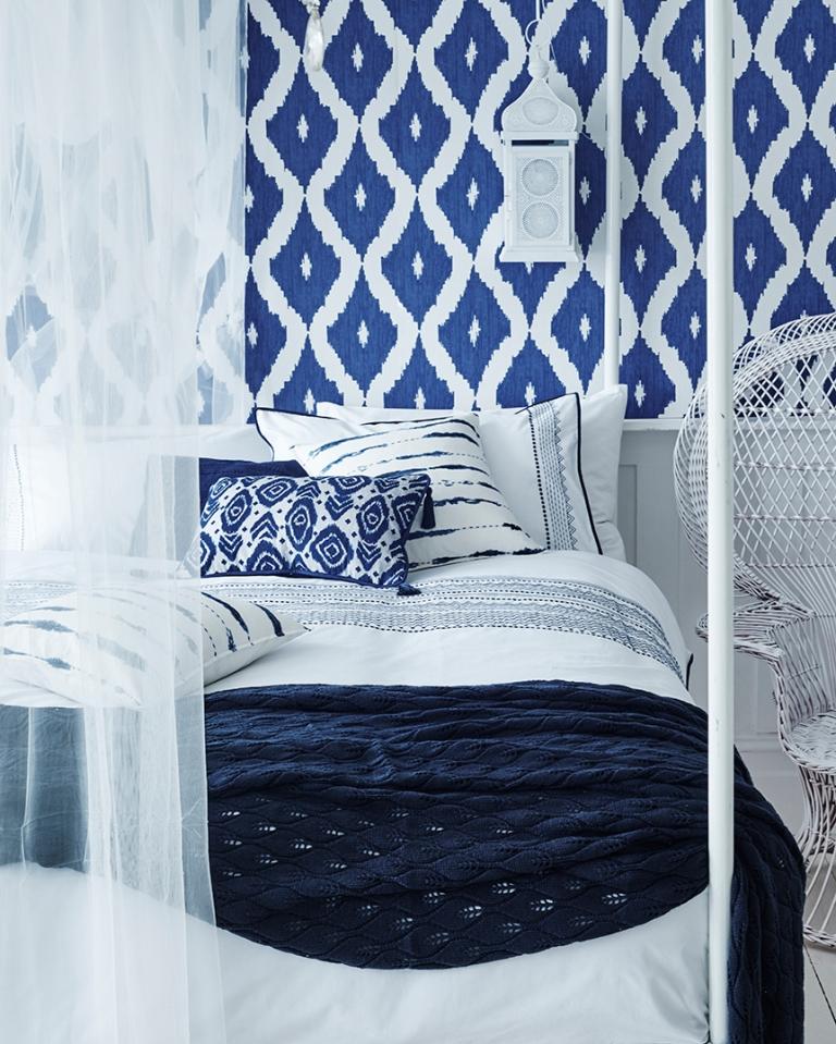 Sainsbury's Moroccan Blue Bedroom