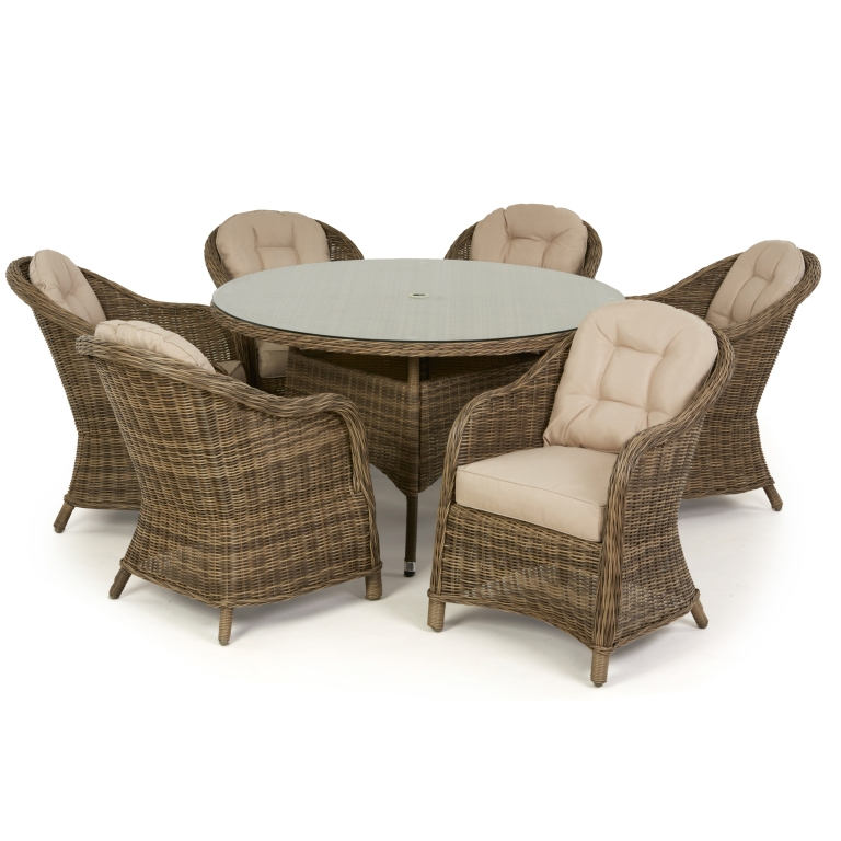 Winchester 6 Round Seat Dining Set