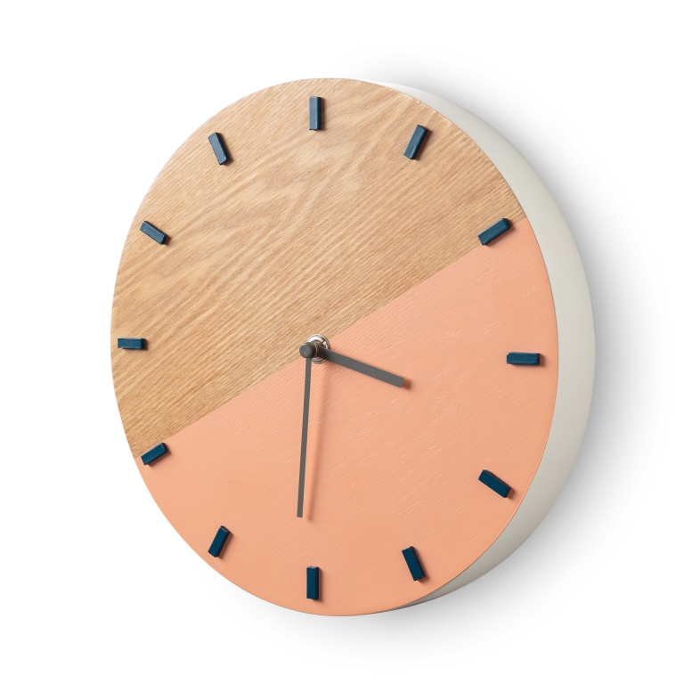 Elo Pink and Navy Clock £35