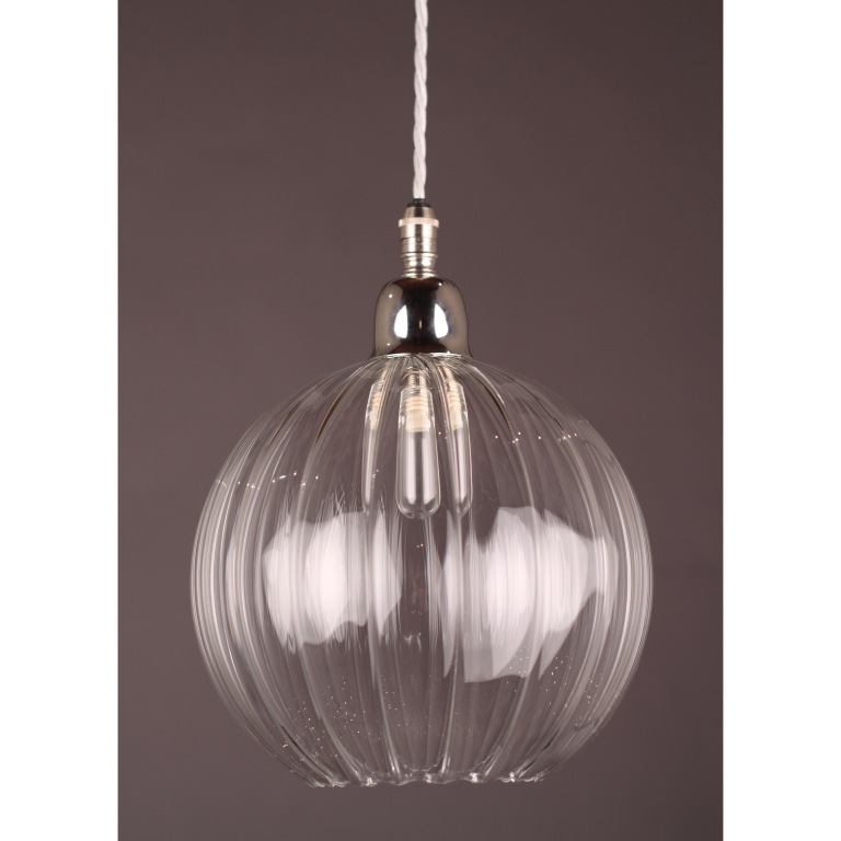 Bathroom Hereford Ribbed Pendant