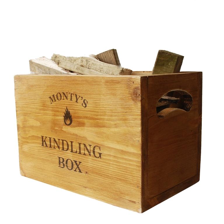 personalised-vintage-kindling-box