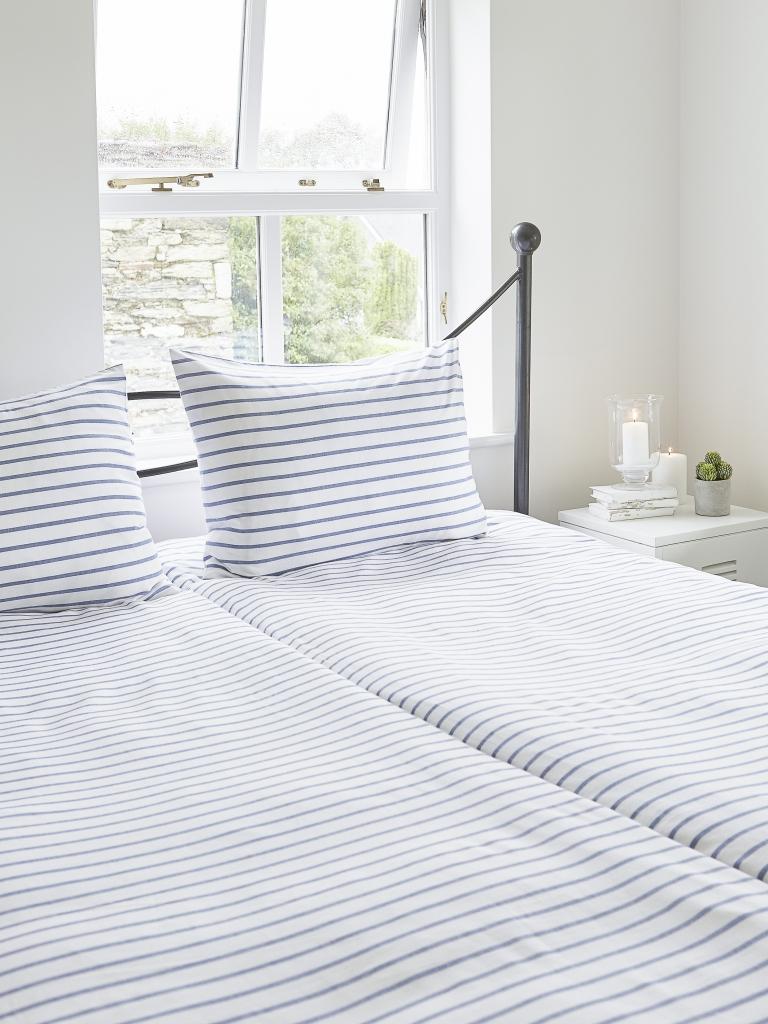 Dala Blue Yarn Dyed Bed Set £58 Nordic House 01872 223 220 www.nordichouse.co.uk