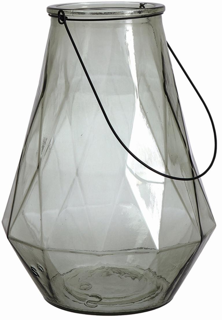 Geometric Glass Lantern in Aqua £30 Nordic House 01872 223 220 www.nordichouse.co.uk