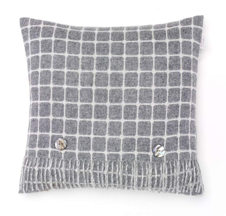 Bronte by Moon, Athens Grey Cushion, £49.95