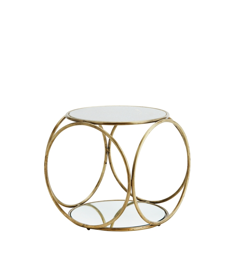 White Marble Table with Mirrored Base by Madam Stoltz_£275_ovohome.com
