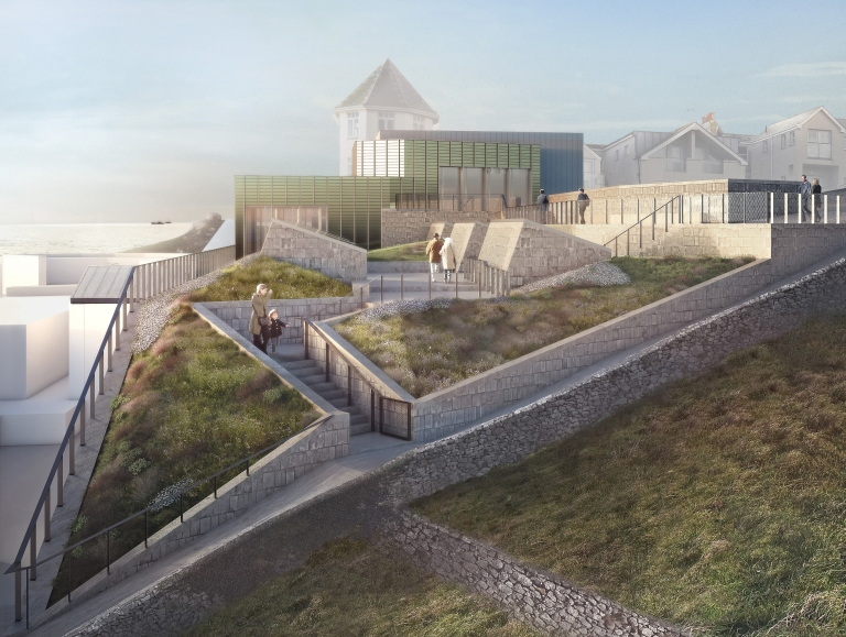 Tate St Ives rooftop visualisation (c) Jamie Fobert Architects